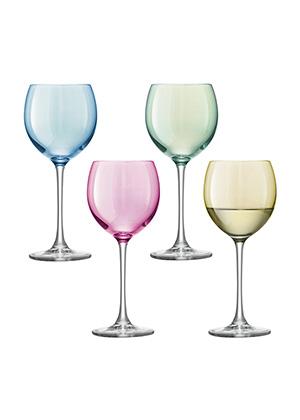 бокал для вина POLKA, сет 4 шт, подарочная упаковка