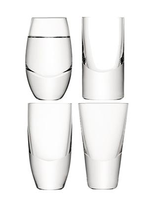 рюмка для водки LULU, сет 4 шт. разного дизайна