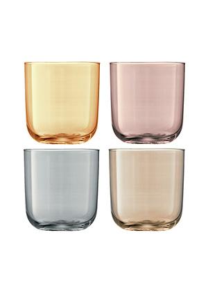 бокал для воды POLKA, сет 4 шт. разных цветов