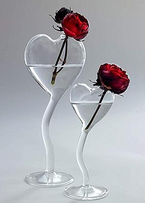 ваза для одного цветка HEART
